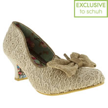 Natural Irregular Choice Fancy Free Bow Court