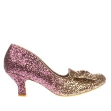Irregular Choice Gold Fancy That Glitter Womens Low Heels