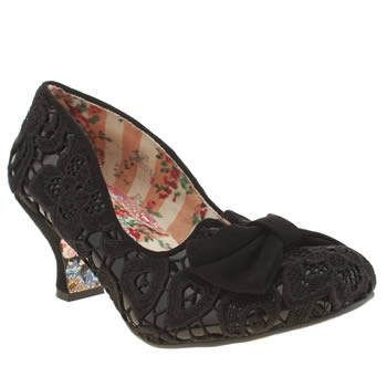 Irregular Choice Black Fancy That Patent Low Heels