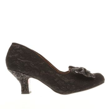 Irregular Choice Black Fancy That Lace Womens Low Heels
