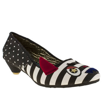 Womens Irregular Choice Black & White Fangtastic Court Low Heels