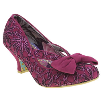 Womens Irregular Choice Pink Fancy That Cross Strap Low Heels