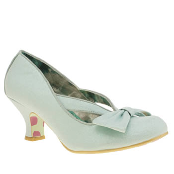 Irregular Choice Pale Blue Fancy That Ha Ha Dazzle Low Heels