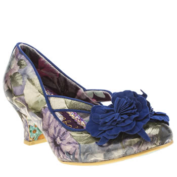 Womens Irregular Choice Navy Fancy That Hyper Floral Low Heels