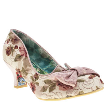 Irregular Choice Pale Pink Dazzle 2nd Razzle Floral Womens Low Heels