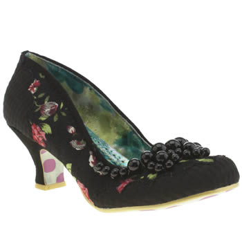 Irregular Choice Black & pink Pearly Dazzler Low Heels
