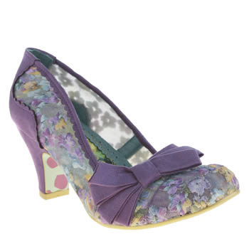 Irregular Choice Purple Ic Palm Cove Floral Low Heels