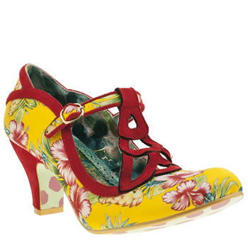 Irregular Choice Yellow Nicely Done Floral Womens Low Heels