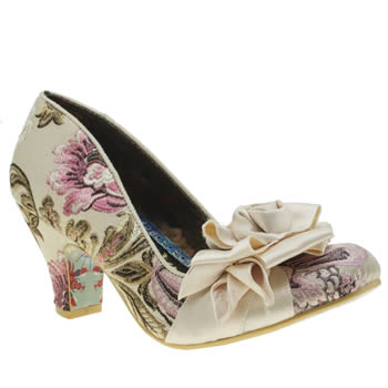 Irregular Choice Stone Yolanda Rosette Low Heels