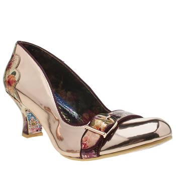 Irregular Choice Rose Gold Delores Diva Womens Low Heels