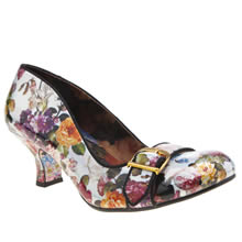 Irregular Choice Silver Dee Dee Delago Floral Womens Low Heels