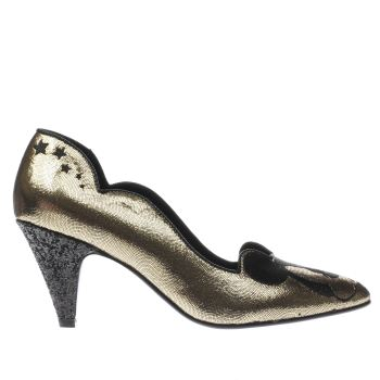 Irregular Choice Gold X Disney Glitzy Mickey Damen Low Heels