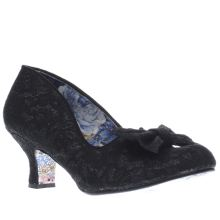 Irregular Choice Black Fancy Pants Lace Low Heels