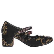 Irregular Choice Black & pink Mini Mod Retro Mary Womens Low Heels