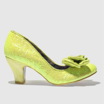 Irregular Choice Yellow Banjoe Glitter Womens Low Heels