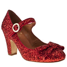 Red Or Dead Red Lindy Hop Glitter Womens Low Heels