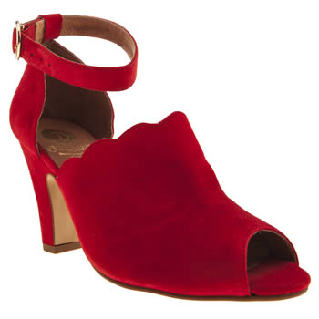 womens red or dead red tipsy trudence low heels