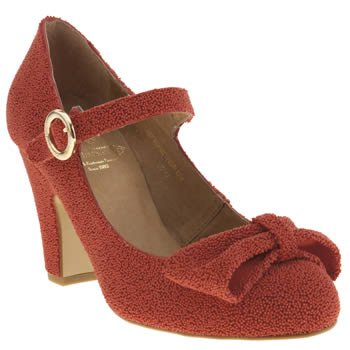 Womens Red Or Dead Red Lindy Hop Low Heels