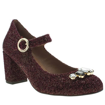 Womens Red Or Dead Burgundy Charleston Low Heels