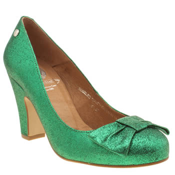 Womens Red Or Dead Green Lollipop Low Heels