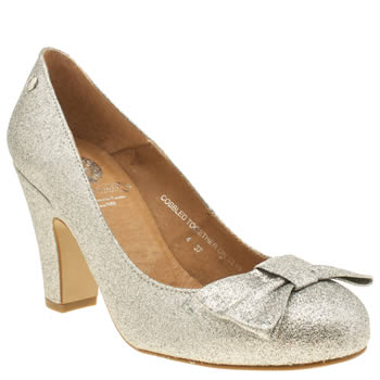 Womens Red Or Dead Silver Lollipop Low Heels
