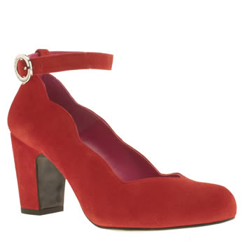 Womens Red Or Dead Red Go Flo Low Heels