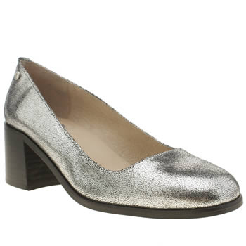 Womens Red Or Dead Silver Millie Mae Low Heels