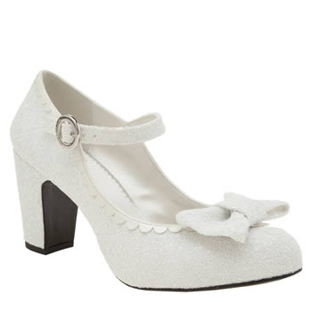 Red Or Dead White Golly Gosh Womens Low Heels
