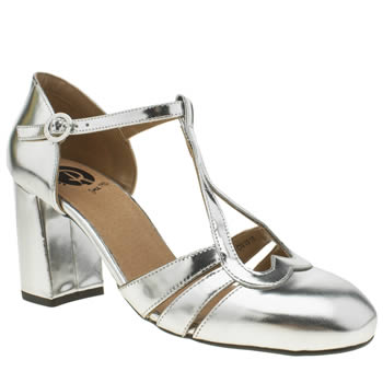RED OR DEAD SILVER GINGER LOW HEELS