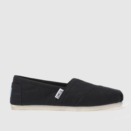 Black Toms With Black Sole Toms Black Classic Slip Flats