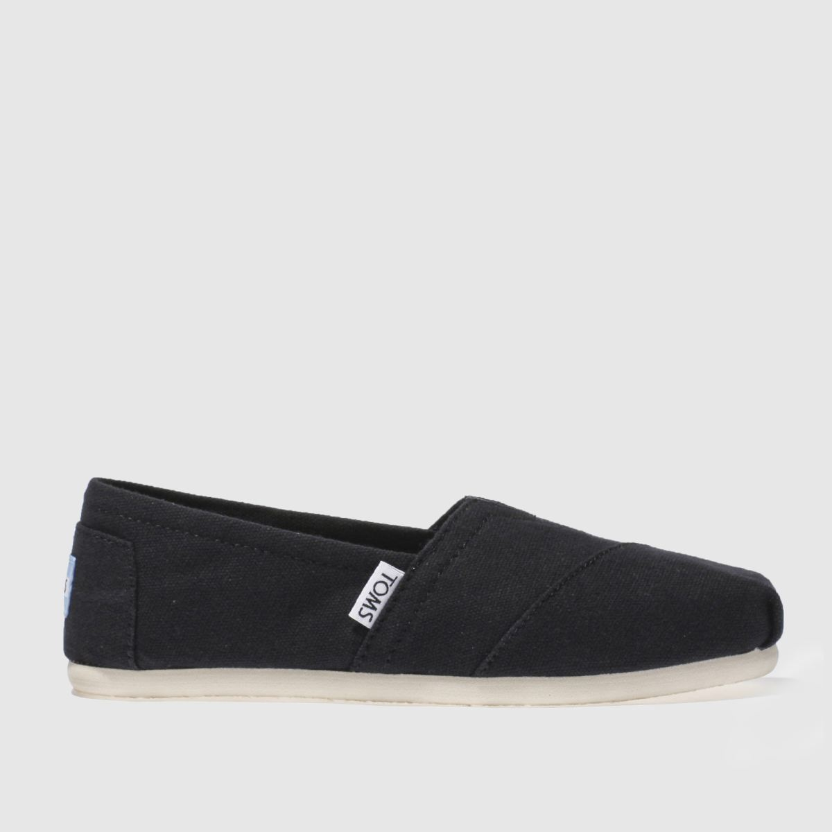 toms black classic slip flat shoes