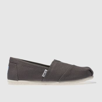 womens toms grey classic slip flat shoes