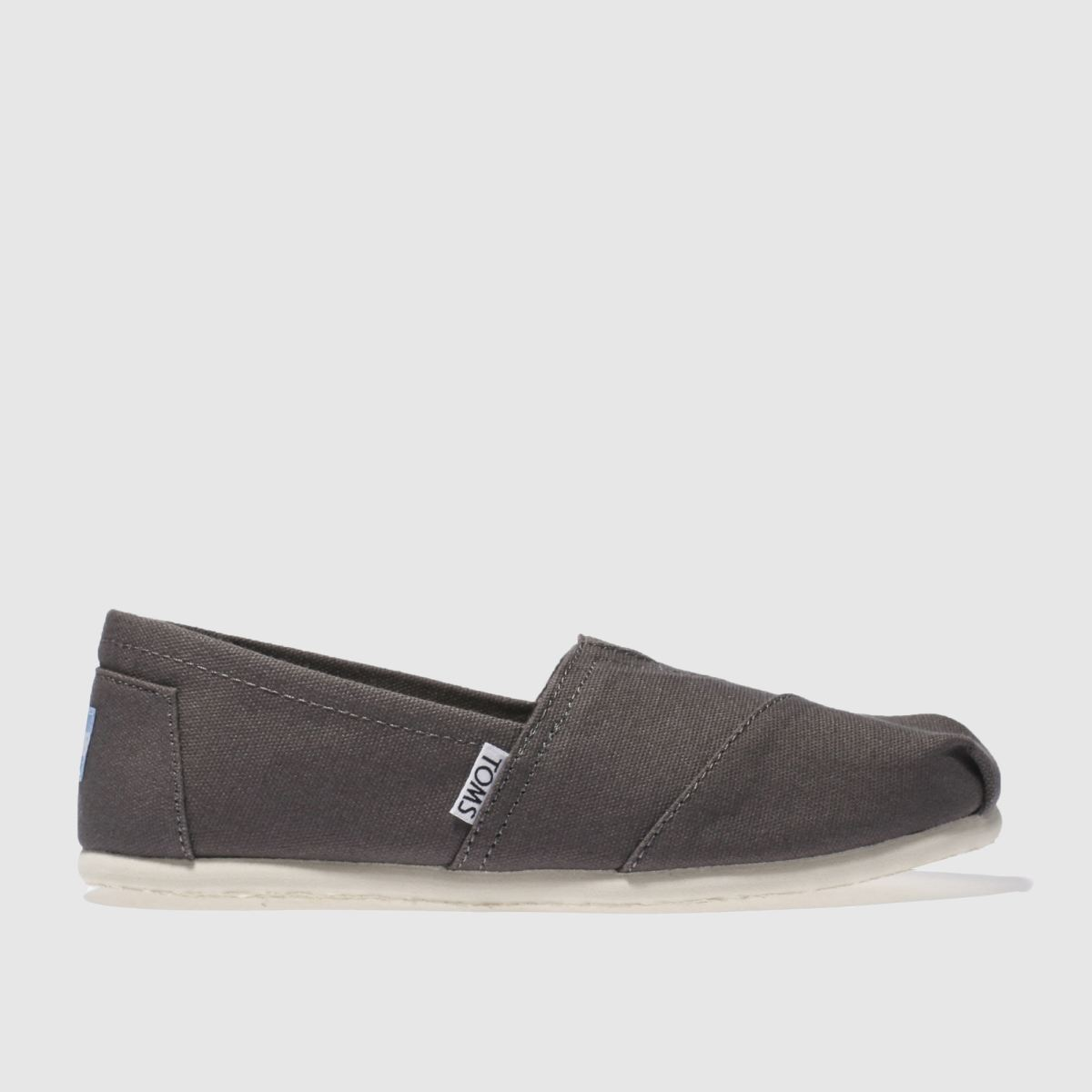 toms grey classic slip flat shoes