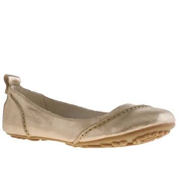 womens hush puppies gold janessa flat shoes