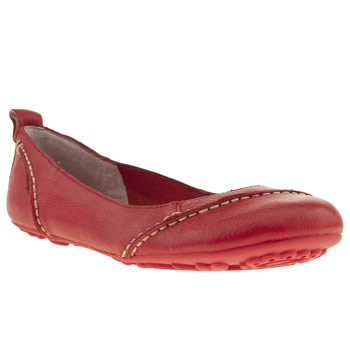 womens hush puppies red janessa flat shoes