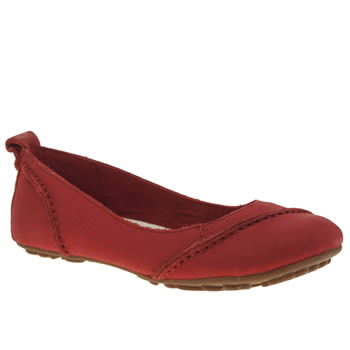 Womens Hush Puppies Red Janessa Flats