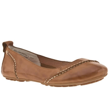 Womens Hush Puppies Tan Janessa Flats