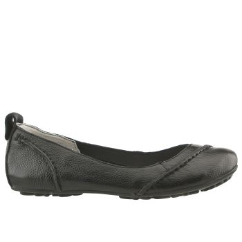HUSH PUPPIES BLACK JANESSA FLAT SHOES