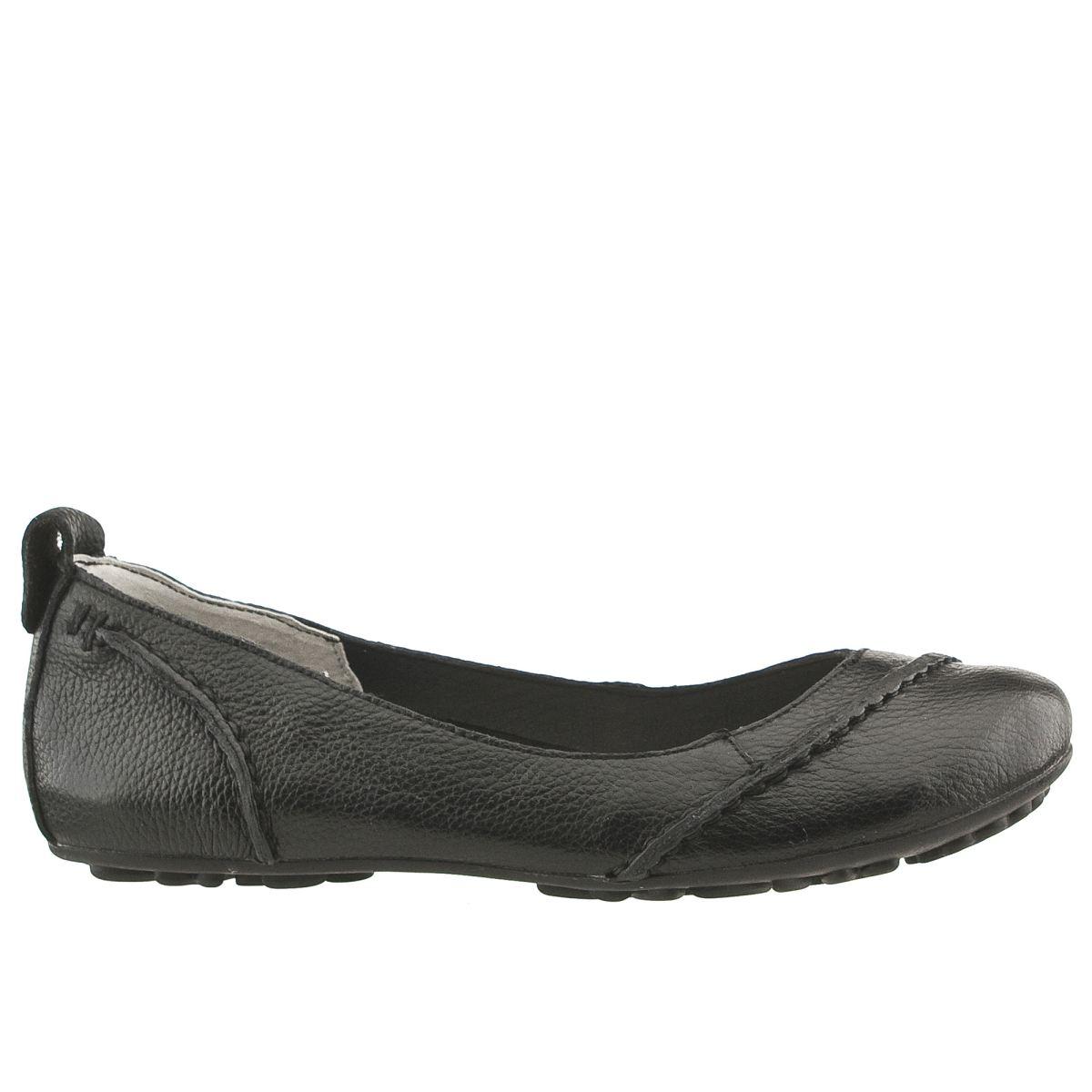 hush puppies black janessa flat shoes