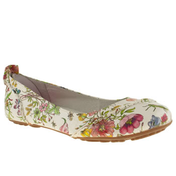 womens hush puppies multi janessa floral flat shoes
