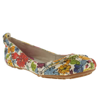 Womens Hush Puppies Multi Janessa Floral Flats