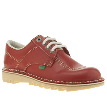 Womens Kickers Red Lo Flats