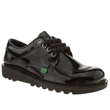 Womens Kickers Black Kick Lo Patent Flats