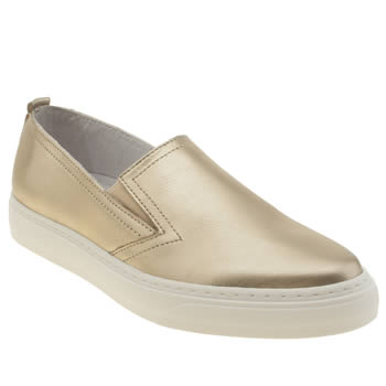 Womens Schuh Gold Wanted Flats