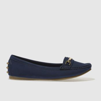 Schuh Navy Speed Boat Flats