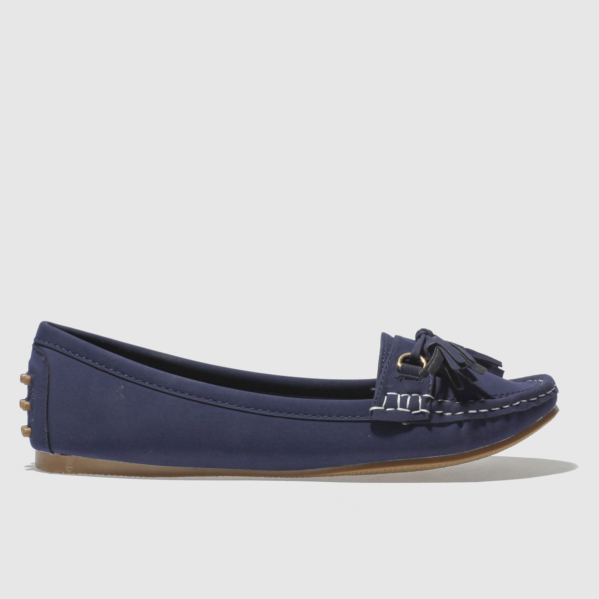 Schuh Navy Preppy Flat Shoes