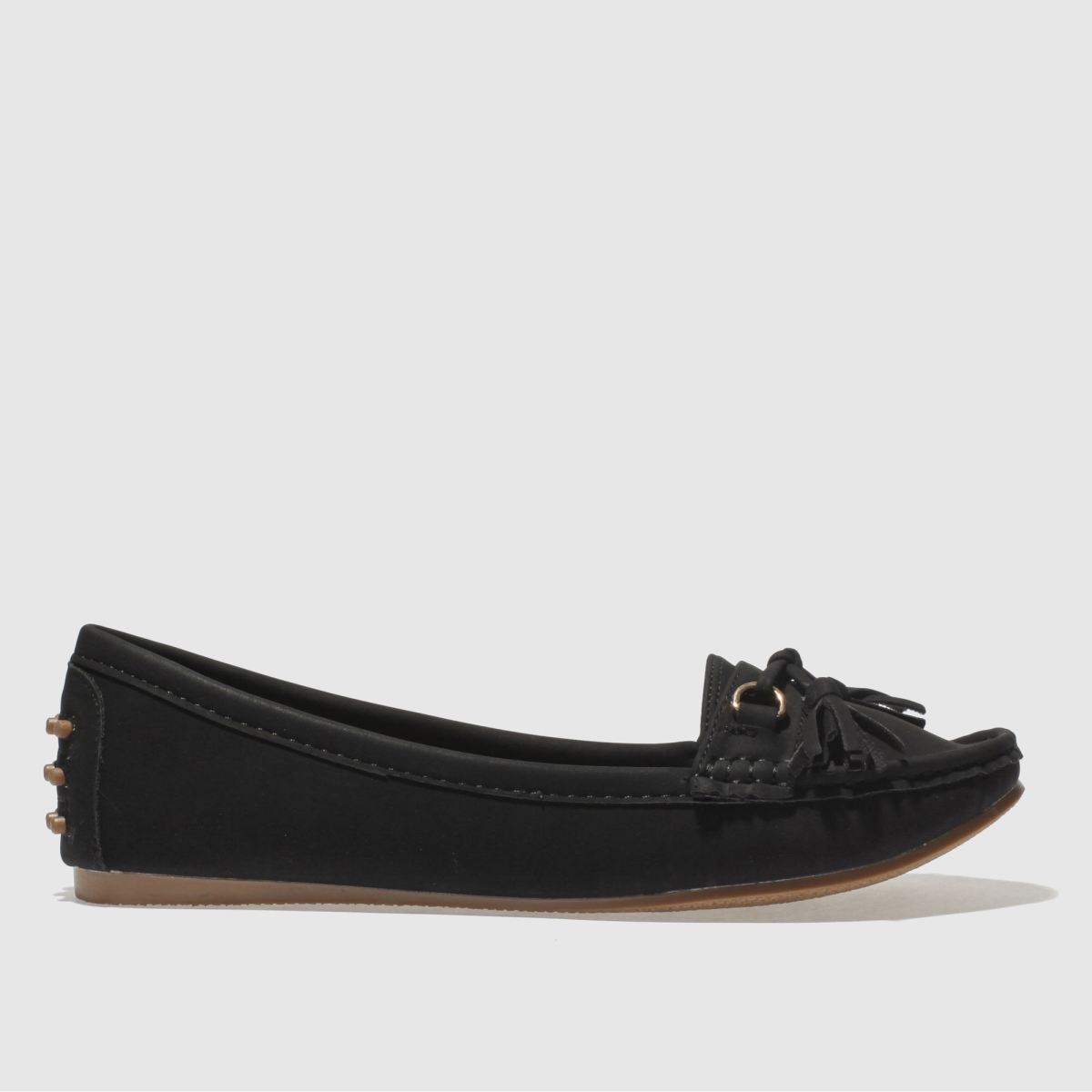 Schuh Black Preppy Flat Shoes