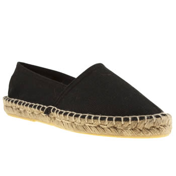 womens schuh black festival flat shoes