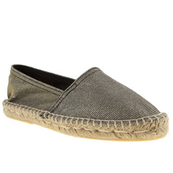 womens schuh silver festival flat shoes