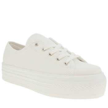 Womens Schuh White Creep Platform Lo Flats